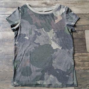 Alternative Apparel Camo Side Slit Jersey T-Shirt